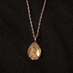 Kendra Scott Kiri necklace rose gold & brown pearl